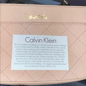 Pink Quilted Calvin Klein purse